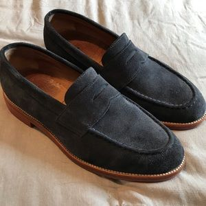 J. Crew Kenton Suede penny loafer - navy
